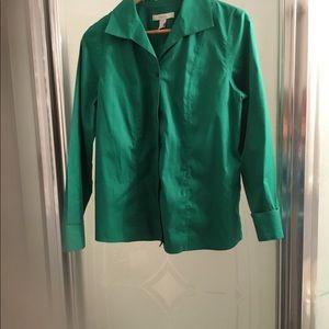 Chico's Green Shirt no Iron